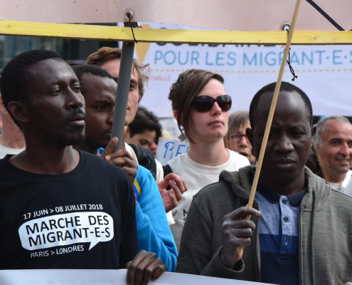 marche des migrants Paris 2018